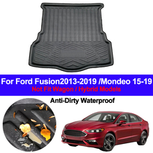 Auto Rear Boot Cargo Liner Tray Trunk Luggage Floor Carpet Mat Carpets Pad For Ford Fusion 2013   2017 2018 2019 Mondeo 2015 19