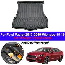 Auto botte arrière Cargo Liner plateau coffre bagages sol tapis tapis tapis Pad pour Ford Fusion 2013   2017 2018 2019 Mondeo 2015 19