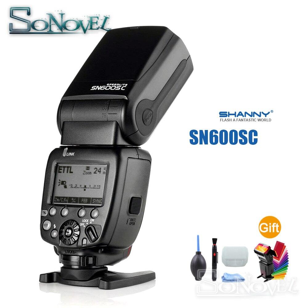 Shanny Maître Flash SN600SC Haute vitesse Sync 1/8000 s GN62 Blitz Flash Speedlite pour Canon 80D 77D 70D 60D 5Ds 7D 6D 5D Mark IV