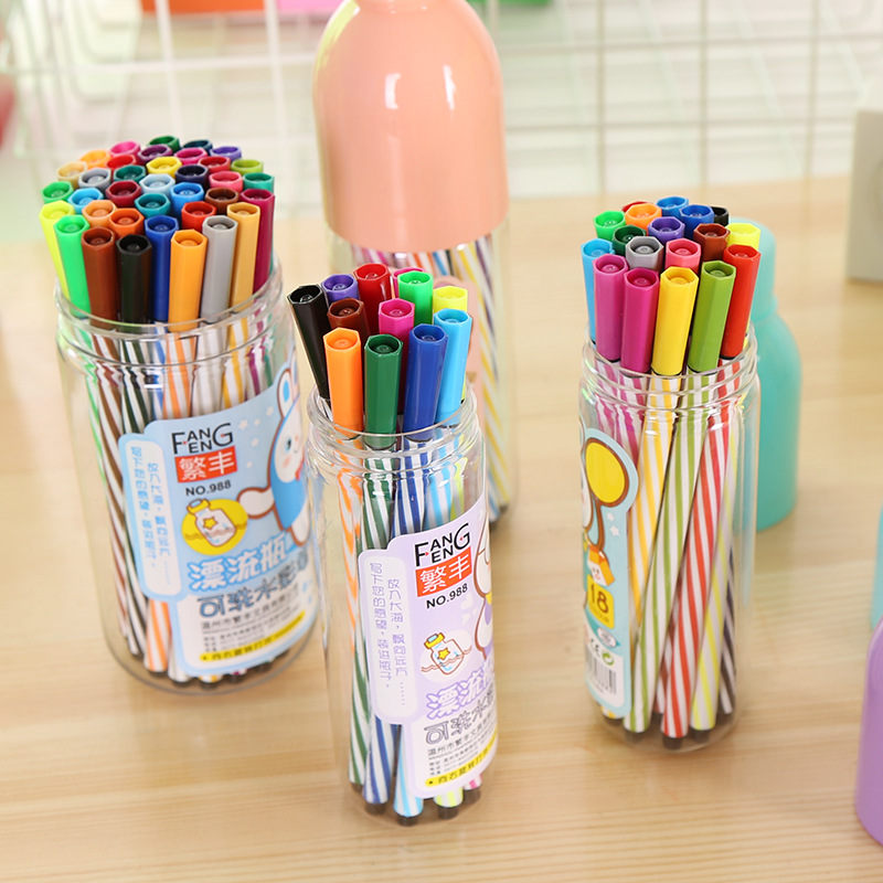 Coloffice (12/18/24/36Pcs )/Set Writing Magic Pens Water Color Drawing Kid Painting Writing Mat  Watercolor Pen School Supplies