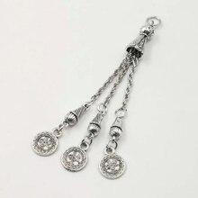 Tasbih кисточки металлические аксессуары модный стиль популярные три цепи Серебряный Кулон Металлический Misbaha Karkoosha