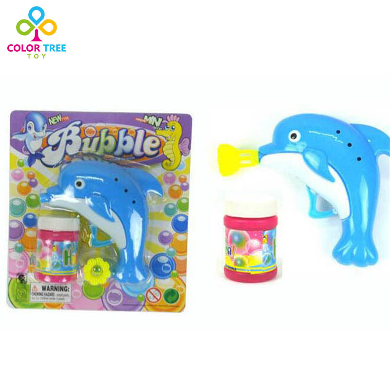 Children Bubbles Gun Hand Operation Blowing Bubbles Dolphin Gun Soap Bubbles Machine Outdoor Toys