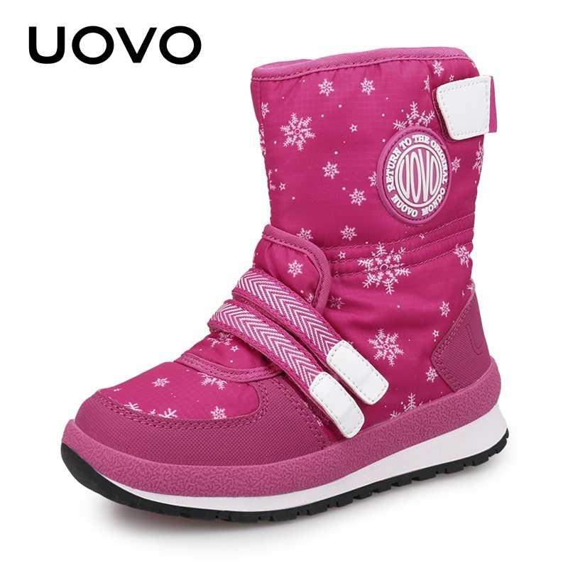 UOVO 2019 Nieuwe Aankomst Kinderen Snowboots Voor Jongens En Meisjes Warme Winter Schoenen Mode Mid-Kalf Kinderen Schoeisel size Eur #30-38
