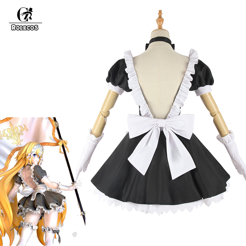 ROLECOS Fate Grand Order <font><b>Cosplay</b></font> Costume Jeanne d'Arc <font><b>Sexy</b></font> Dress Joan of Arc <font><b>Cosplay</b></font> Costume FGO Women Maid <font><b>Lolita</b></font> Dress Party image