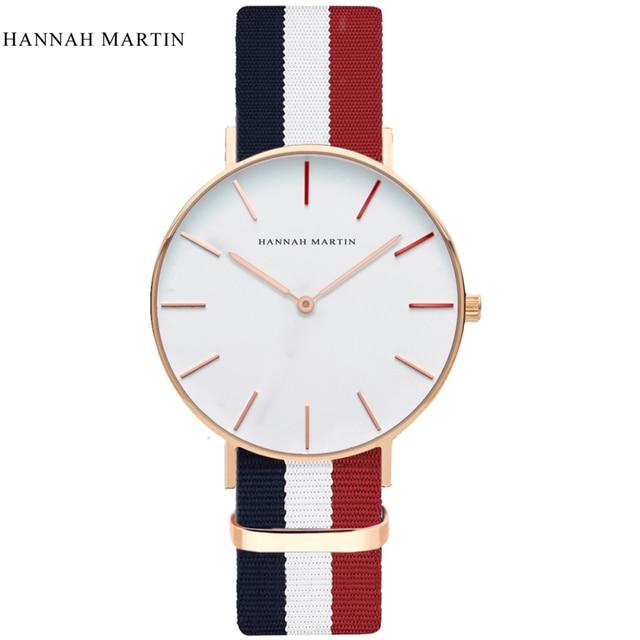 HANNAH MARTIN Men Casual Sport Quartz watch Top Brand Luxury Classic D W Nylon S