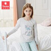 Tinsino Children Girls Autumn Pajama Sets Long Sleeve Cartoon Pajamas Kids Girl Winter Underwear Spring Sleepwear
