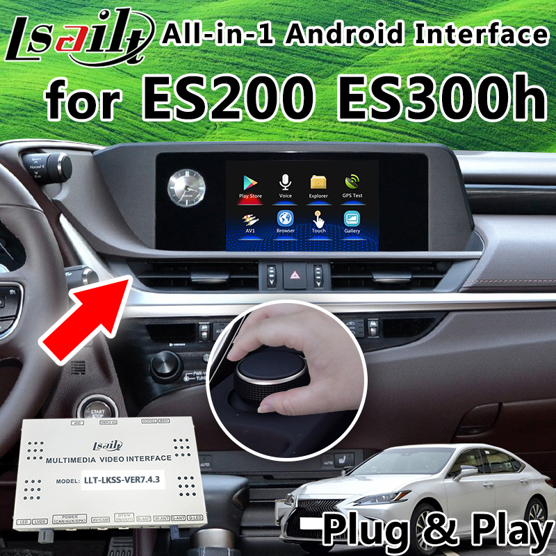 All-in-1 Plug&Play Android GPS Navigation Box for 2019 Lexus ES200 ES300h supprot OEM Touc