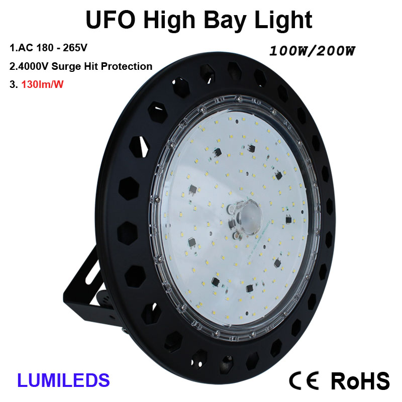 LED High Bay Light,  6000K Daylight White, IP65 Waterproof