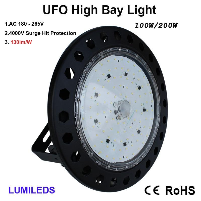 LED High Bay Light,  6000K Daylight White, IP65 Waterproof