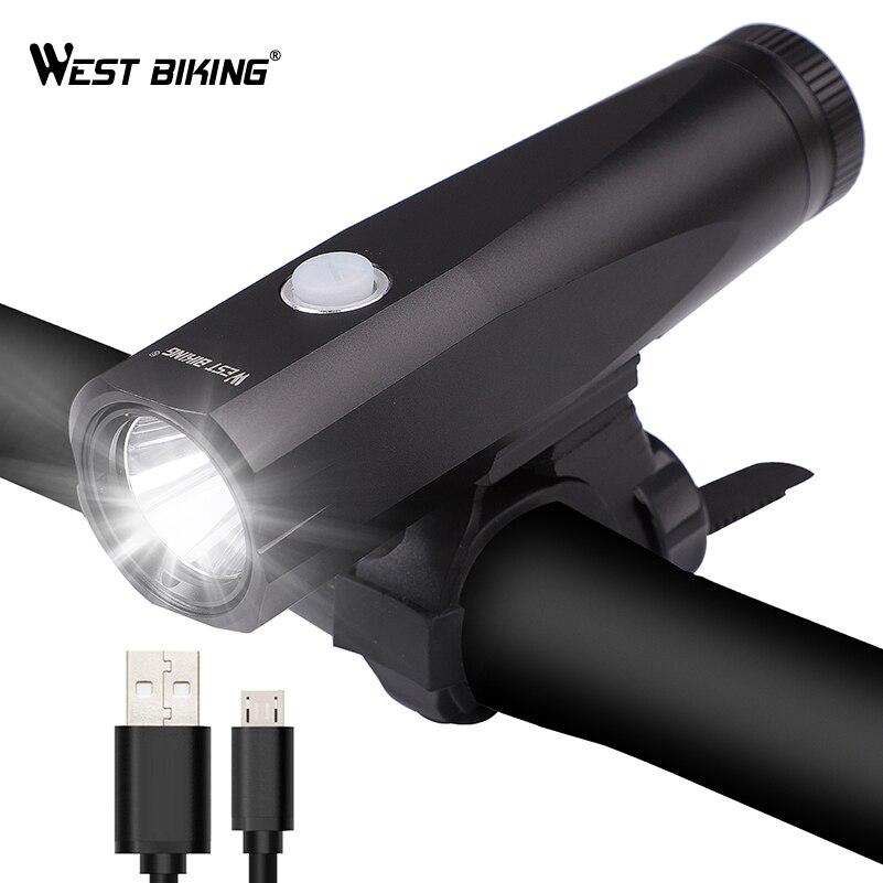WEST RADFAHREN Bike Lichter Super Helle Scheinwerfer Rücklicht Set Fahrrad USB Aufladbare LED Front Lampe Radfahren Warnleuchten