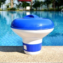 1PC Deluxe Large Blue and White Floating Swimming Pool Chlorine Dispenser