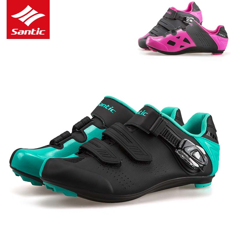 2018 Santic Cycling font b Shoes b font Road Self Locking Bike font b Shoes b