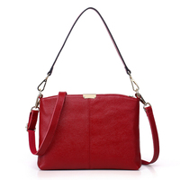 2016 New Arrival Top Genuine Women Handbags Female Head Layer Cowhide Leather Shoulder Small Bags Women