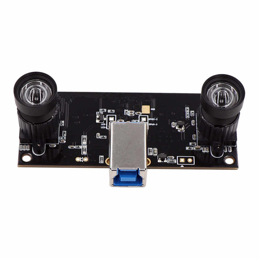 Non Distortion Dual Lens USB3.0 Camera Module Synchronization HD 960P OTG UVC Plug Play Driverless 3D VR Stereo Webcam