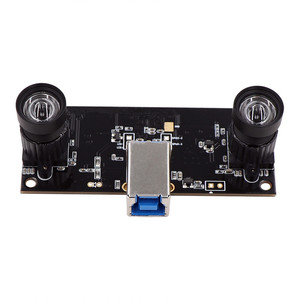 Image 1 - Face Recognition Non Distortion Dual Lens USB3.0 Camera Module Synchronization 960P UVC Plug Play Driverless 3D VR Stereo Webcam