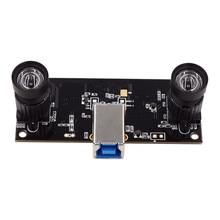 التعرف على الوجه غير تشويه عدسة مزدوجة USB3.0 وحدة الكاميرا التزامن 960P UVC التوصيل اللعب سائق ثلاثية الأبعاد VR ستيريو كاميرا ويب