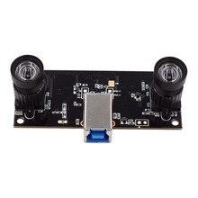 Yüz Tanıma Olmayan Bozulma Çift Lens USB3.0 Kamera Modülü Senkronizasyon 960P UVC Tak Oyna Sürücüsüz 3D VR Stereo Webcam