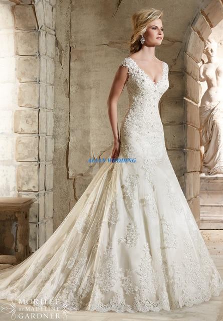 Informal Mermaid Wedding Dresses Appliques V Neck Vestidos De Novia ...