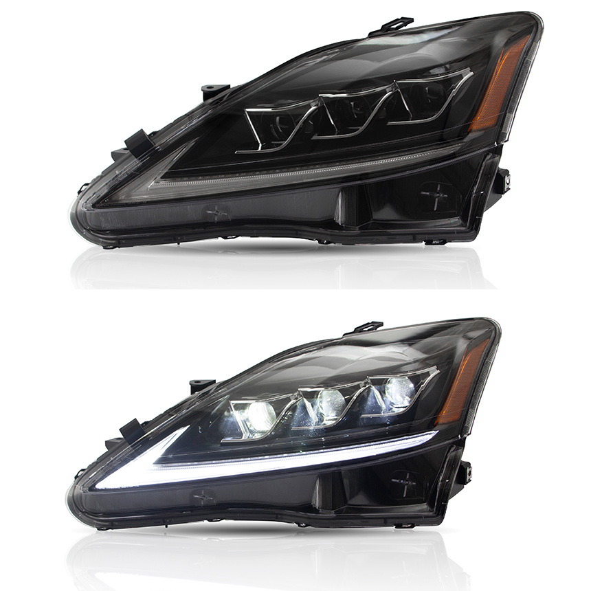 VLAND Factory For Lexus IS 250 IS300 Head Lamp / Rear Lamp Assembly 2006 2007 2008 2009 2010 2012 Full LED + Paly And Plug