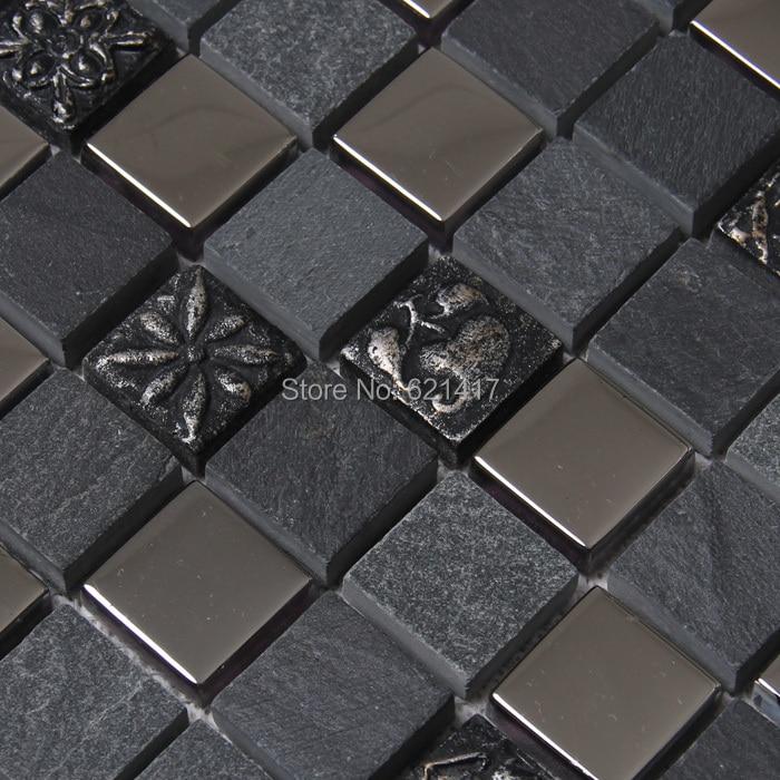 Online kopen Wholesale zwarte steen backsplash uit China zwarte ...