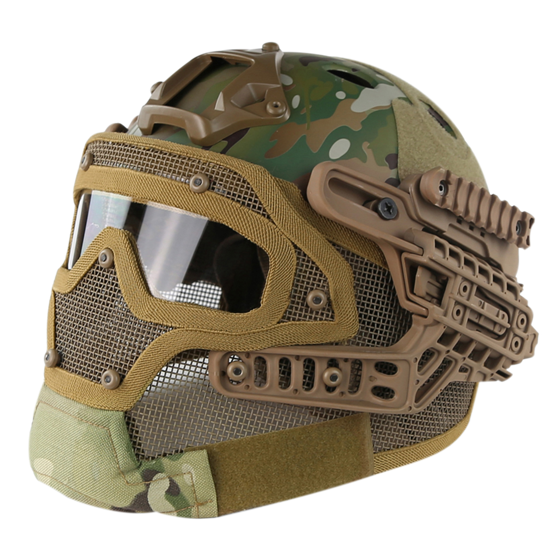 NFSTRIKE Steel Wire Protective FAST Helmet Suit for Outdoor Activity Airsoft Tactics Military Helmet High Quality Drop Shipping nfstrike steel wire protective fast helmet suit for airsoft military tactics helmet for nerf accessories games outdoor activity