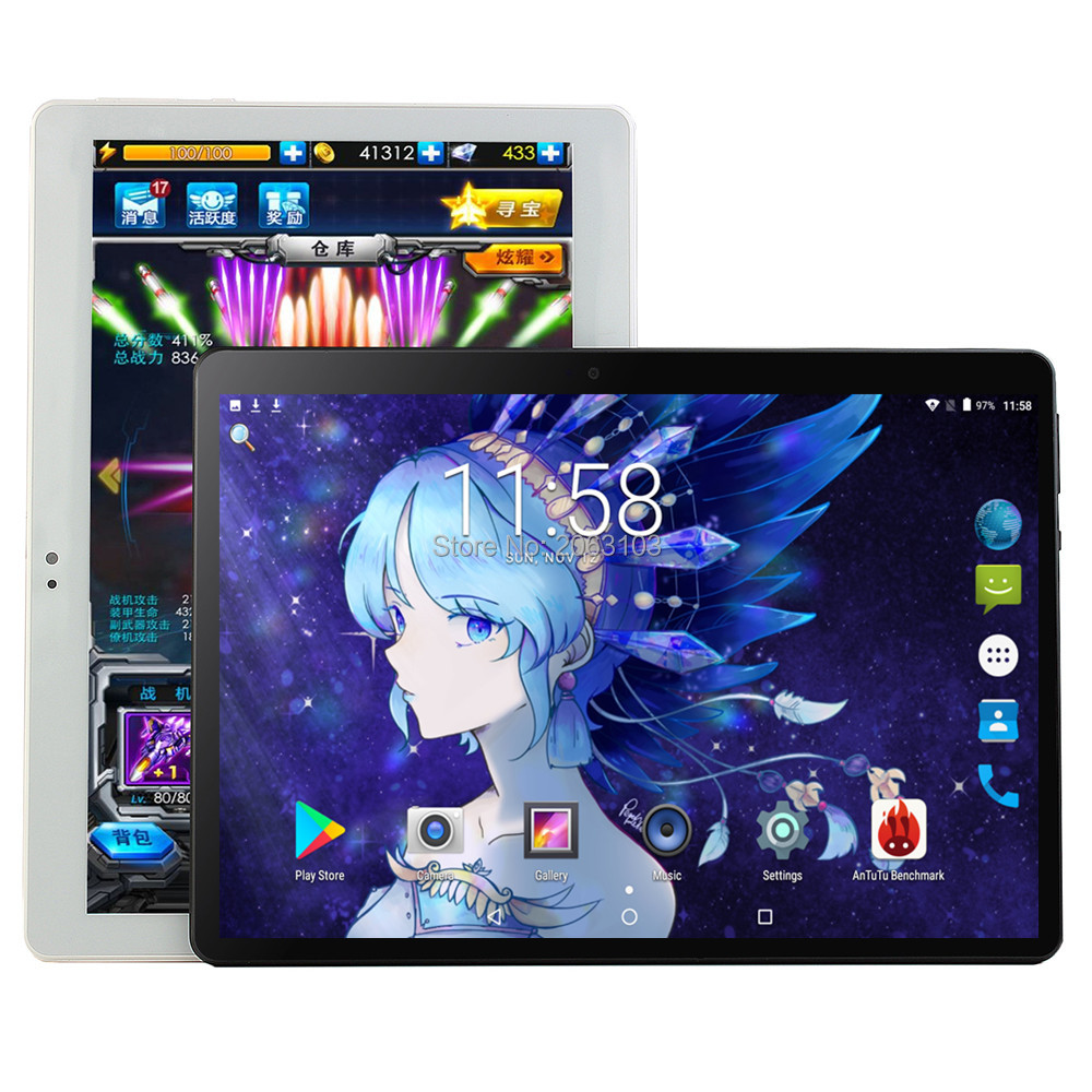 Hot new Android 9.0 os 10 polegada tablet pc Núcleo octa Núcleos 8 64 6GB RAM GB ROM 1280*800 IPS Tela GPS Tablets 10.1 Presente