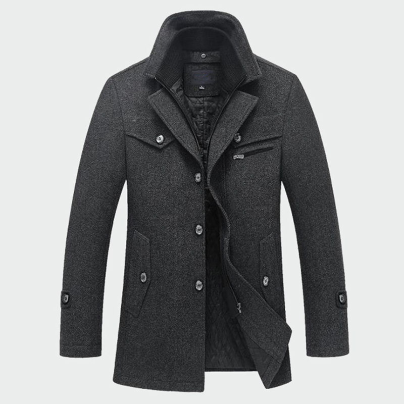 Winter Men's Thick Coats Slim Fit Jackets Mens Casual Warm Outerwear Jacket and Coat Male Peacoat Men Brand Clothes M-4XL ML095(China)
