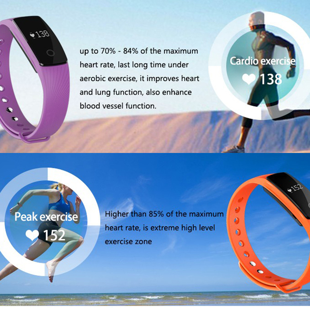 Torntisc ID107 Bluetooth Smart Band Bracelet Heart Rate Sleep Monitor Fitness Tracker SmartBand Sport Wristband for IOS Android
