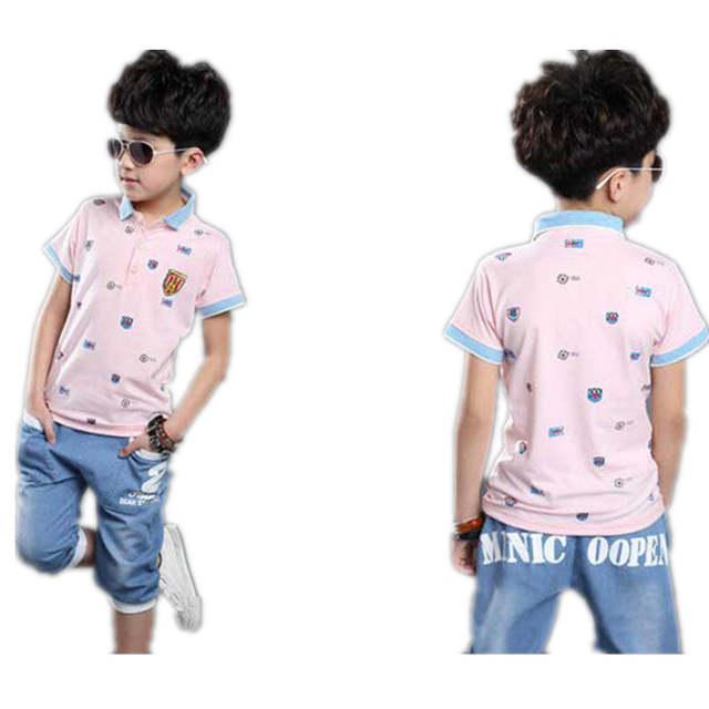 b2753f113 Online Shop Set for Boys summer sets baby boy set 3 colors polo ...