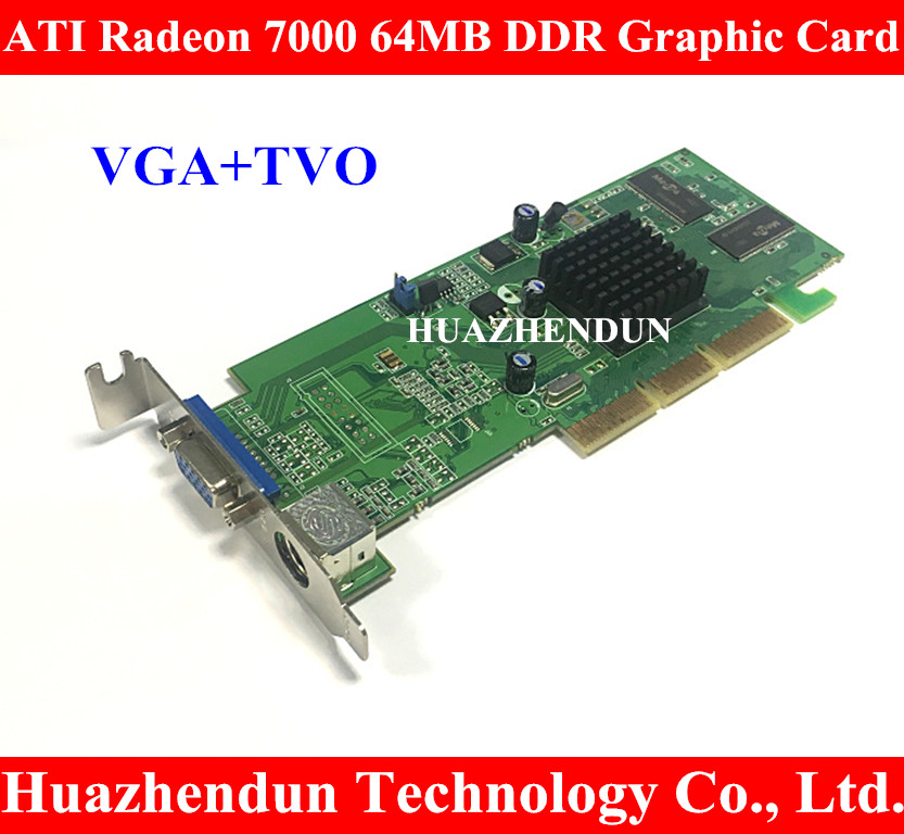 ATI Sapphire Radeon 7000 64M DDR 64MB AGP VGA Video Card With interface VGA+TVO low profile Warrantly: 1 years dhl ems free shipping new ati radeon 9550 256mb ddr2 agp 4x 8x video card from factory 50pcs lot