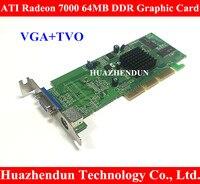 ATI Sapphire Radeon 7000 64M DDR 64MB AGP VGA Video Card With Interface VGA TVO Low
