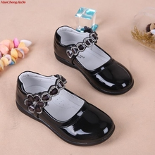 Kids Girls Shoes Lovely Lace Flowers Leather School Girls Dr