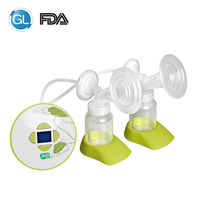 GL Double Electric Breast Pump Silicone Baby Feeding Milk Pump with Gift 30pcs Milk Storage Bag+1 Feeding Bra+6pcs Nursing Pads