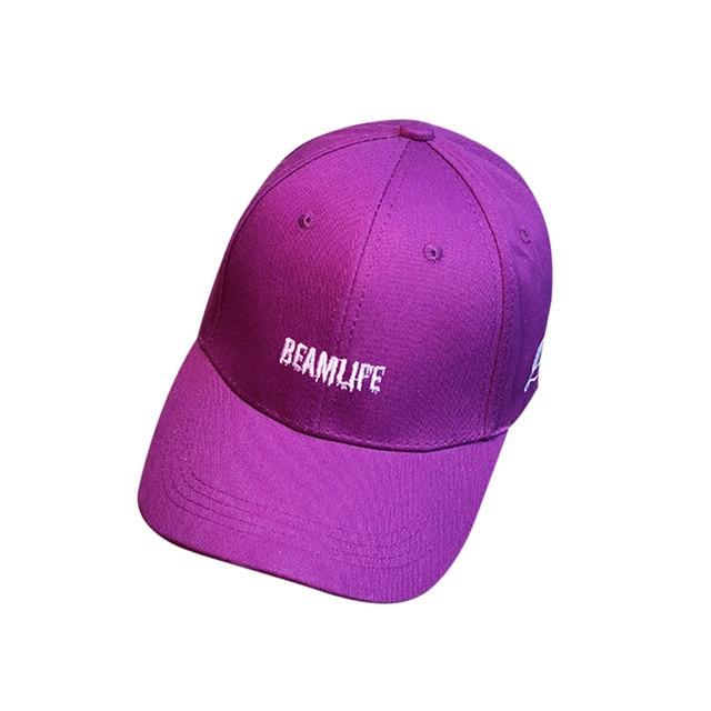 f5f591f224e Hot Fashion 2018 Women Men Baseball Cap Casual Summer Outdoor Cotton Blend  Adjustable Hat in Black Blue Purple