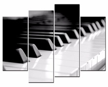 Framed 4 Panels/Set Realistic piano series HD Canvas Print Painting Artwork Gift Wall Art P painting/XJ-12Y-104