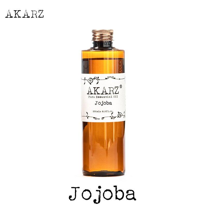 AKARZ Slavná značka Jojobový olej přírodní aromaterapie vysokokapacitní pokožka péče o tělo masáž lázně jojobový esenciální olej