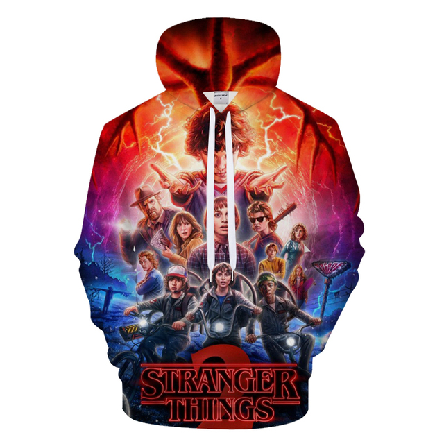 2018 New Men's Hoodies Stranger Things Printed Pullover Thin Hoodies & Sweatshirts For Spring Antumn Men Coat Casual Clothes