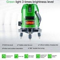 Fukuda 5 Lines Laser Level EK 469GJ Self Leveling Horizontal Vertical Cross Laser Measuring Instument Green Beam Laser Level