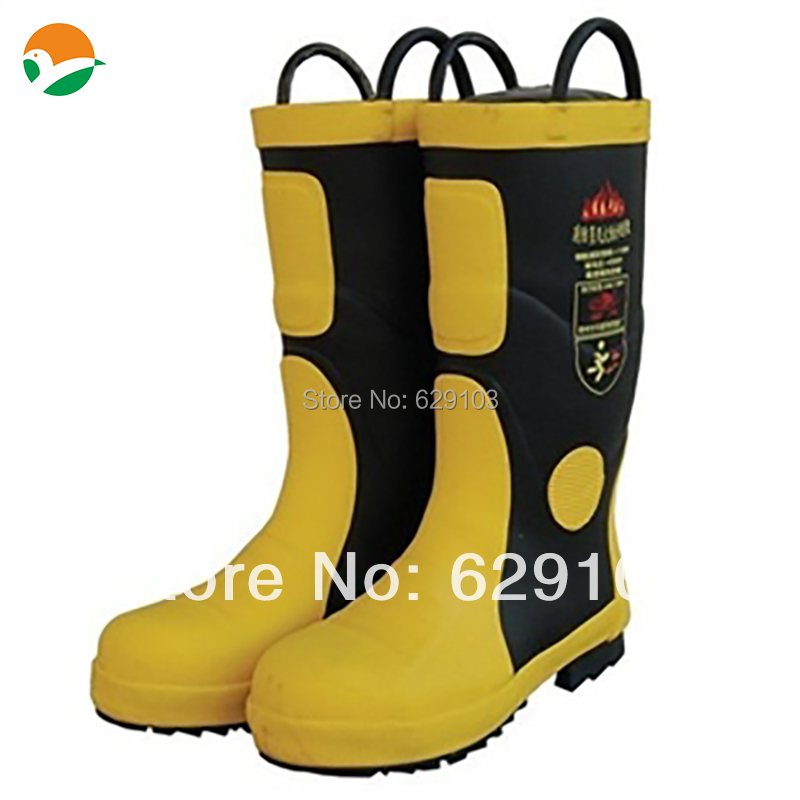Fireman Boots Firefighting Equipment Fire Fighting Boots Safety Rubber Boots ...