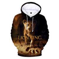 2019 nowy film chwała królestwo król król lew Simba 3D z kapturem bluza mężczyźni/kobiety dorywczo Hip hop Harajuku ubrania z kapturem