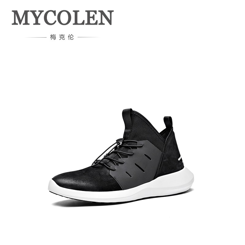 MYCOLEN 2018 Spring Breathable Genuine Leather Shoes Men Fashion Sneakers Brand Light Casual Shoes Chaussures Homme Sport 2017 new spring imported leather men s shoes white eather shoes breathable sneaker fashion men casual shoes