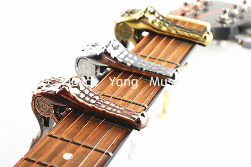Alice A007G Metal Crocodile Guitar Capo Clamp For Acoustic Electric Guitar Gold/Silver/Bronze Free Shipping Wholesales electric acoustic guitar capo with pick holder for bass violin ukulele material metal single handed tune clamp alice a007d bk a1