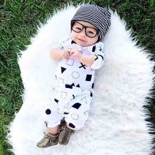 One-pieces Cute Cotton Newborn Baby Boys Girls Bodysuit Rompers Clothes Zero-24M