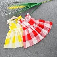 kids girls plaid dress summer little girls dresses cotton clothes toddler baby girl plaid dress kid clothing toddler dressess