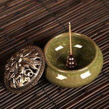 1Pcs Portable Incense Burner Censer High Incense Plug Alloy Copper Incense Holder Can Be Fixed Incense Sticks Coil(China)