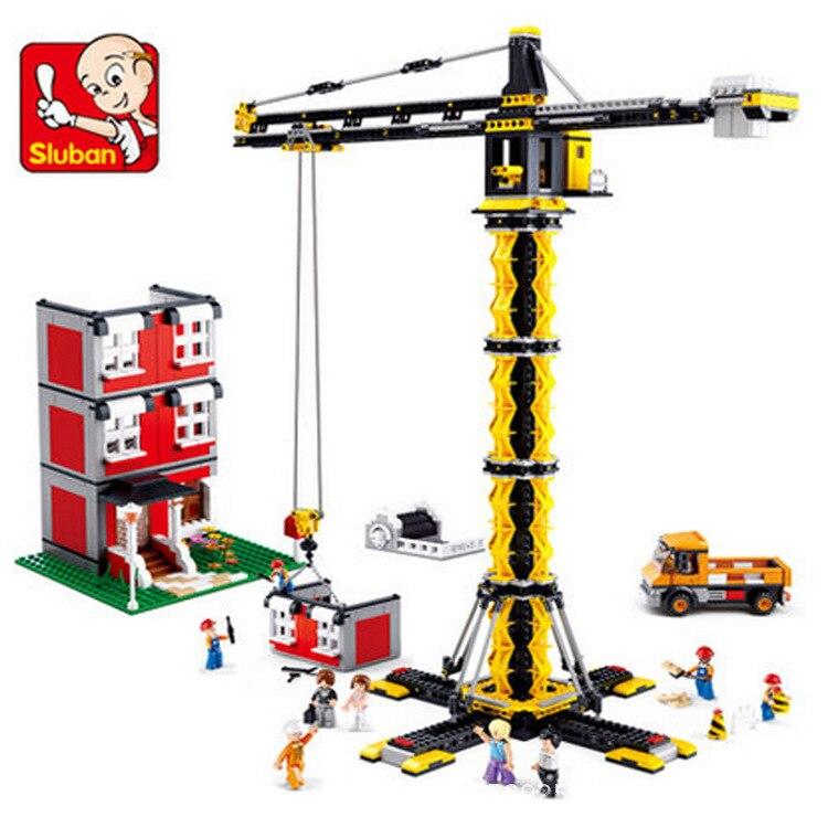 Modele kits de construction compatible avec ville Ingenierie grues a Tour 3D blocs modele de construction jouets loisirs pour lepin 36010 l hiver village marche ensemble assemblage1412pcs 10235 blocs de construction briques jouets educatifs cadeaux