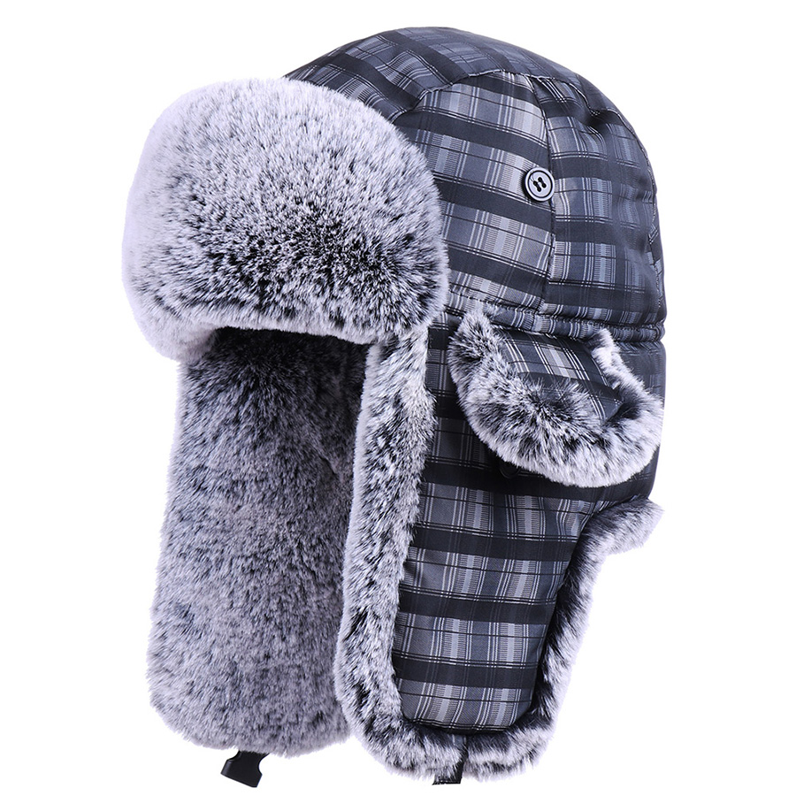 Unisex Russia Ushanka Cotton Earflaps Bomber Hat Faux Fur Trooper Trapper Pilot Aviator Cossack Thicken Snow Hunting Hat Ski Cap(China)