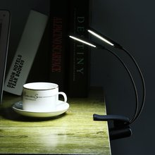 цены 10 LED Book Light Dual Flexible Arms LED Table Lamp Clip On Bed Table Desk Book Reading Lamp Used 3*AAA Battery Reading Lamp