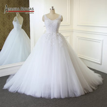 Simple A line Soft Tull Lace Wedding Dress 2019