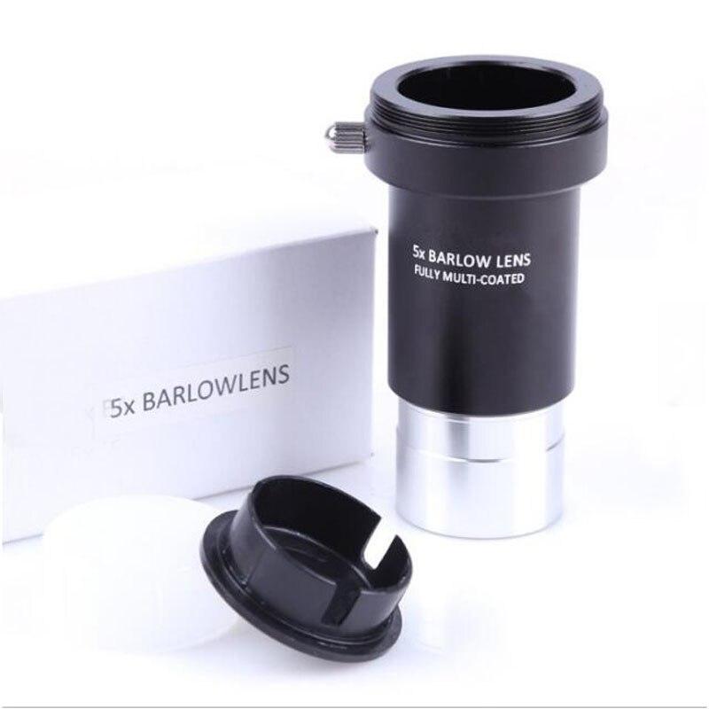 Full Metal 5X Lentille Barlow 1.25 Pouces 31.7mm M42 Fil Astronomique Télescope Monoculaires Lentille Oculaire
